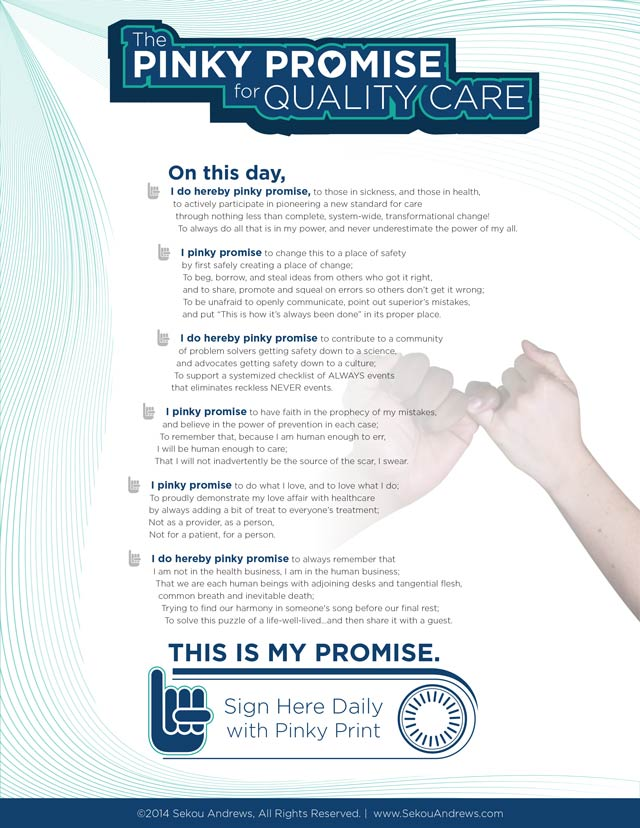 The Pinky Promise For Quality Care Sekou Andrews