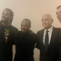 With Norman Lear, Kirk Franklin and Steve Connell at Marian Anderson Awards