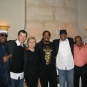 At Quincy Jones' with Hillary Clinton, Kool Moe Dee, Steve Connell And Zo.