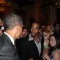 At White House with President Obama
